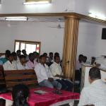 Rev. Abraham Srivastav addressing the students
