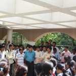 PSI Mr. Chandrakant Kambale informing the students about FIR