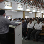 Paster Swapnil P. Nashikkar addressing the students